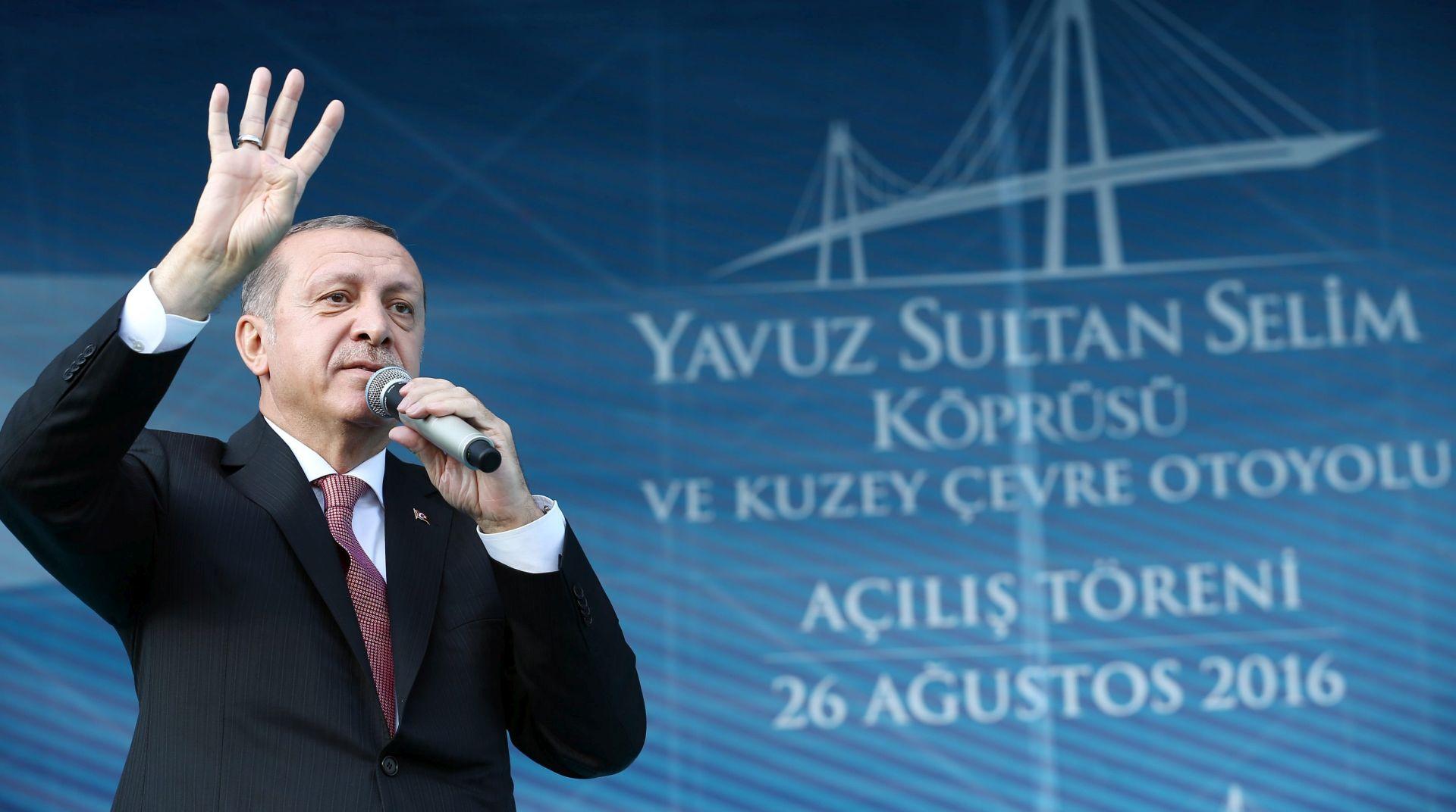JEDINSTVEN U SVIJETU: Erdogan otvorio treći most preko Bospora