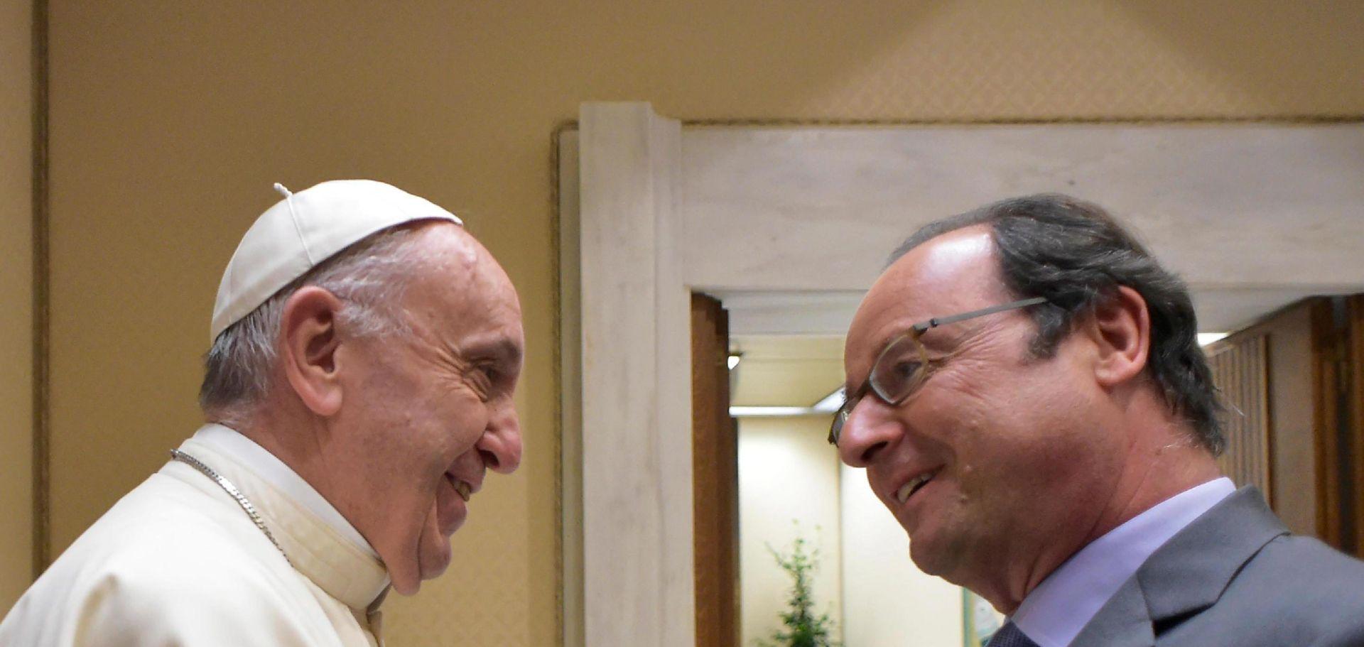 Hollande u Vatikanu iskazao zahvalnost Papi