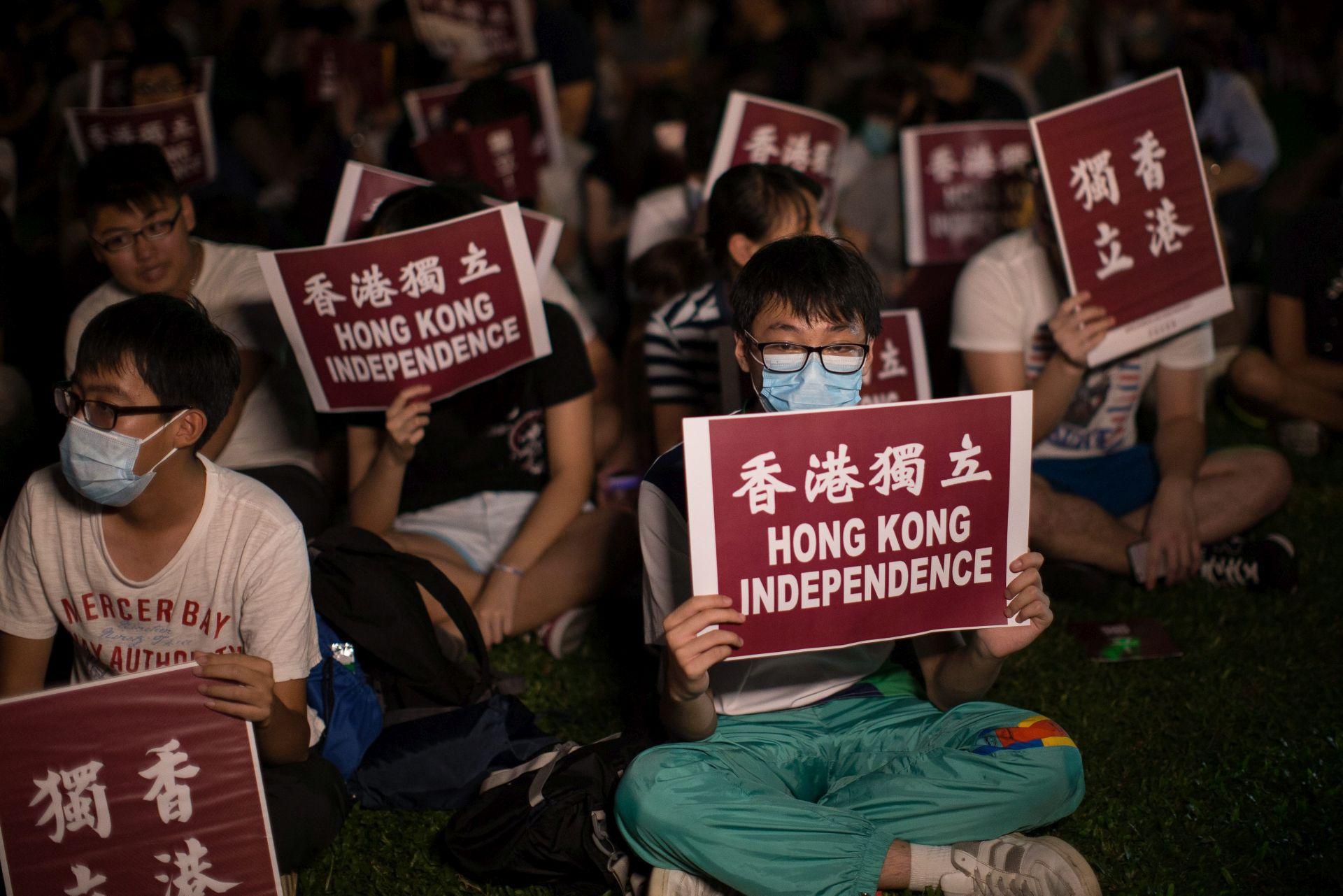SUDJELOVALE TISUĆE LJUDI: Prvi skup za neovisnost u Hong Kongu