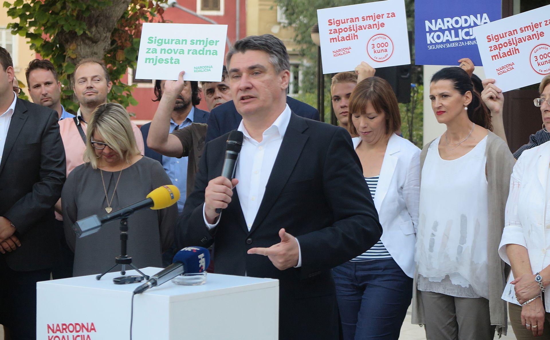 MILANOVIĆ: Lijeva koalicija je u mogućnosti preuzeti šansu i voditi Hrvatsku u red