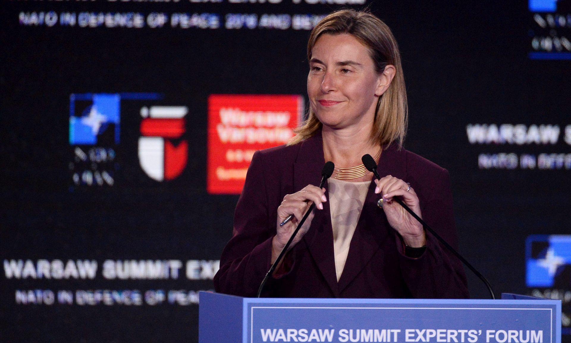 Mogherini: EU će i dalje kombinirati meku i čvrstu moć