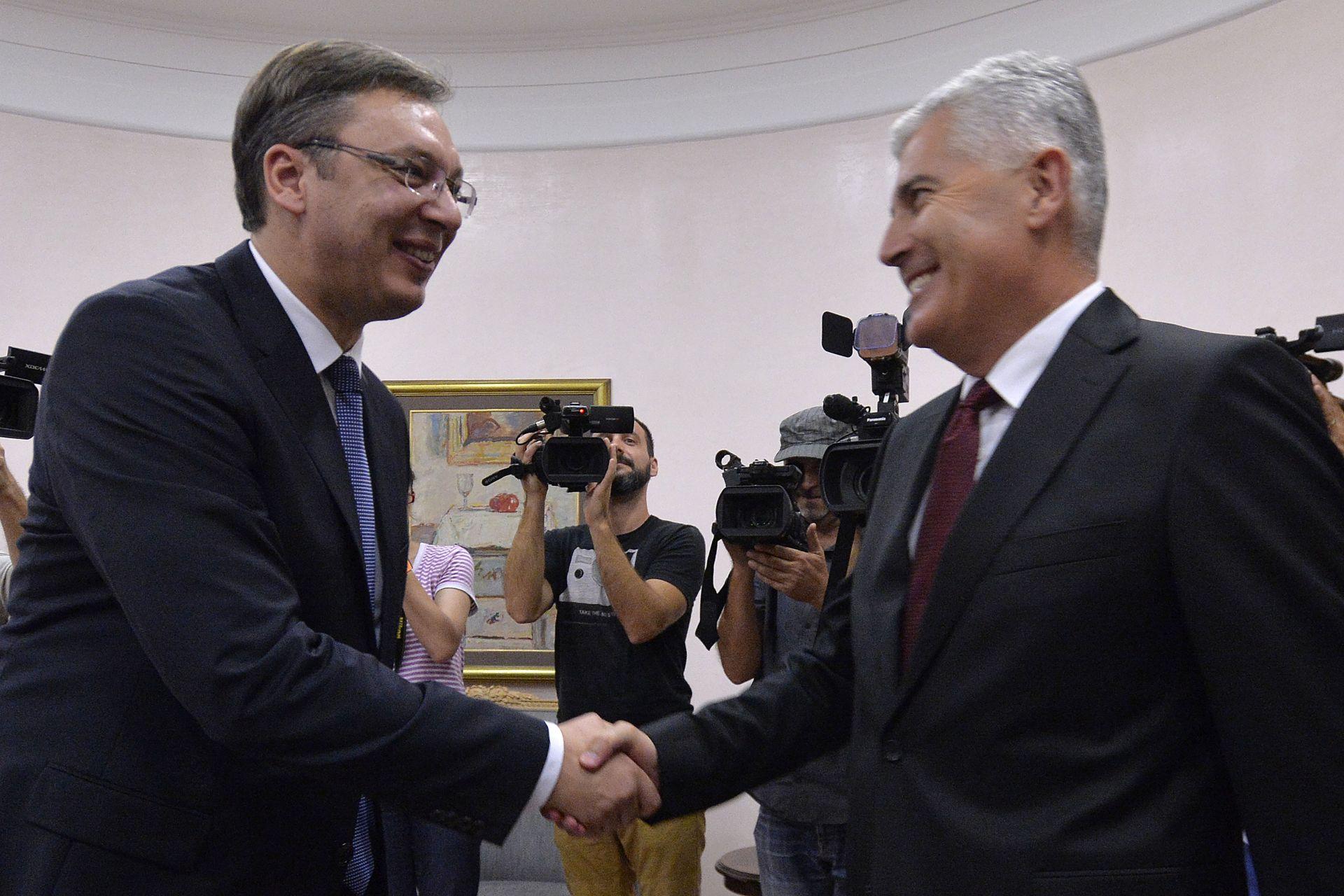 Vučić i Čović uvjereni u bolje odnose Srbije i Hrvatske