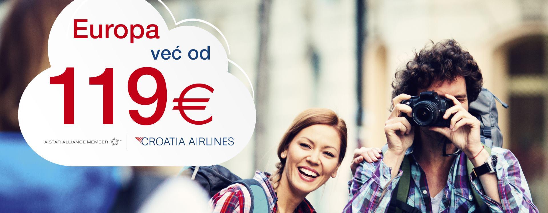 CROATIA AIRLINES Posjetite europske gradove uz povoljne izravne letove