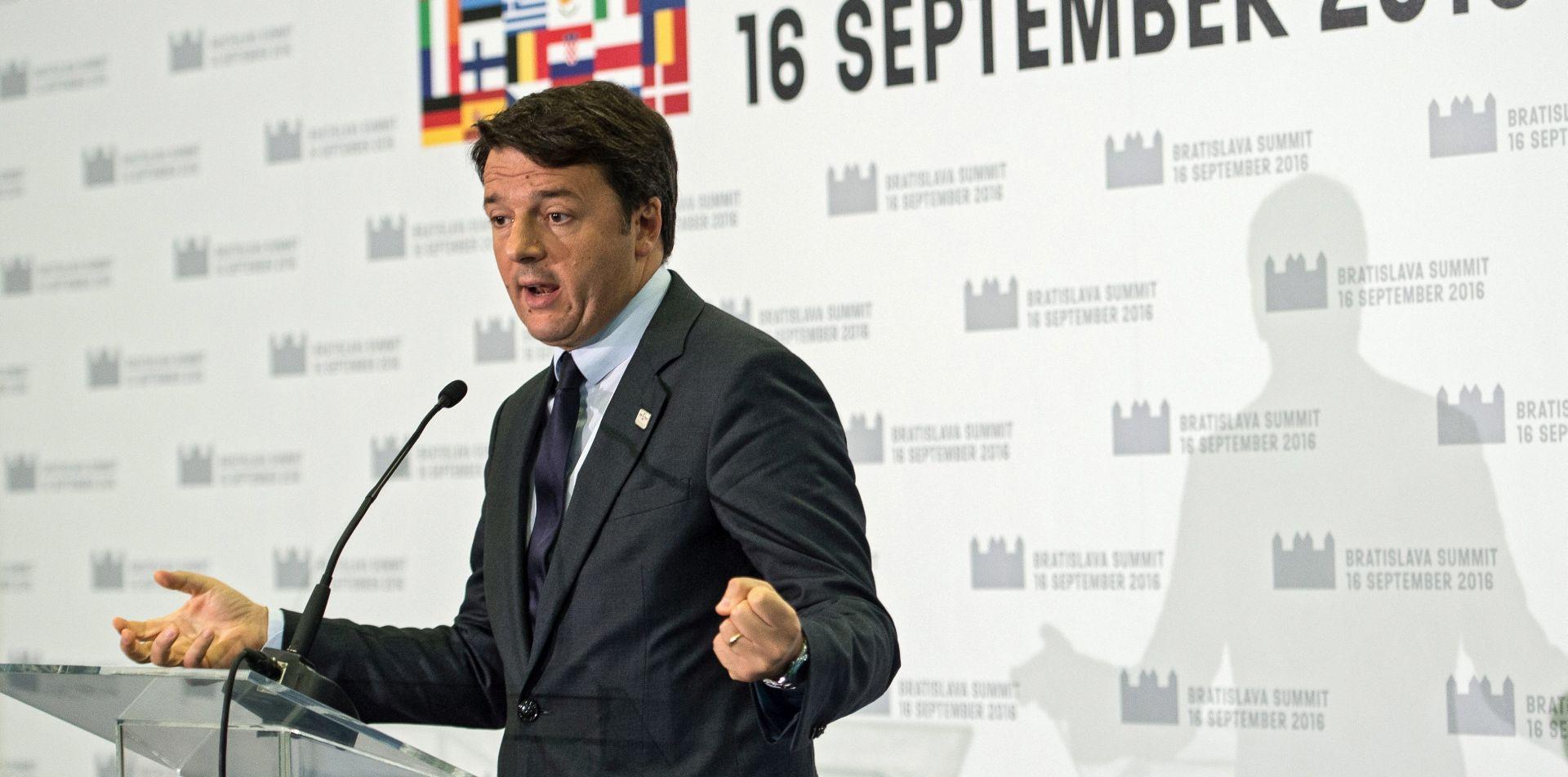 Renziju dosta besmislenih summita EU-a, traži stvarnu akciju