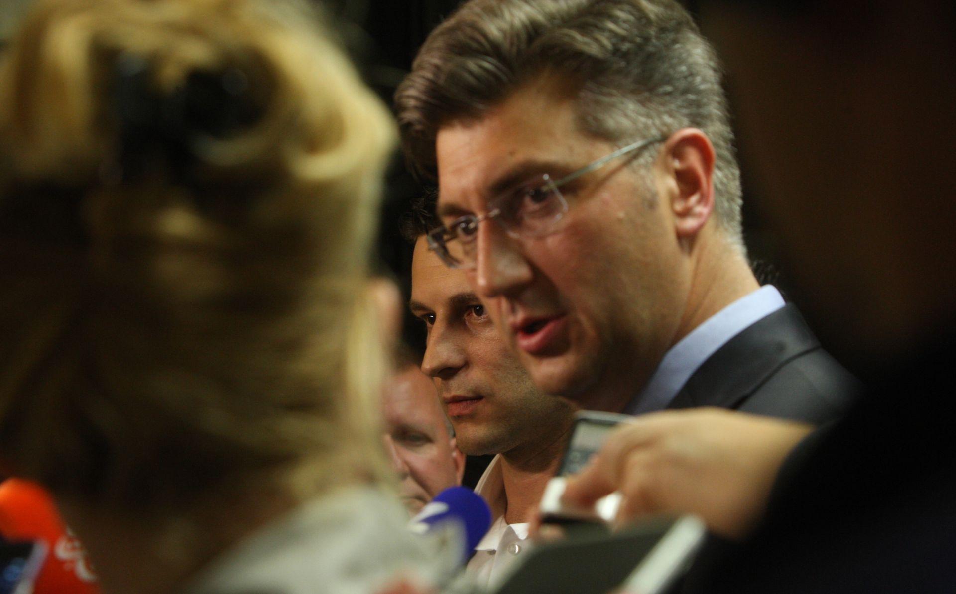 Plenković: Idemo prema formiranju stabilne parlamentarne većine
