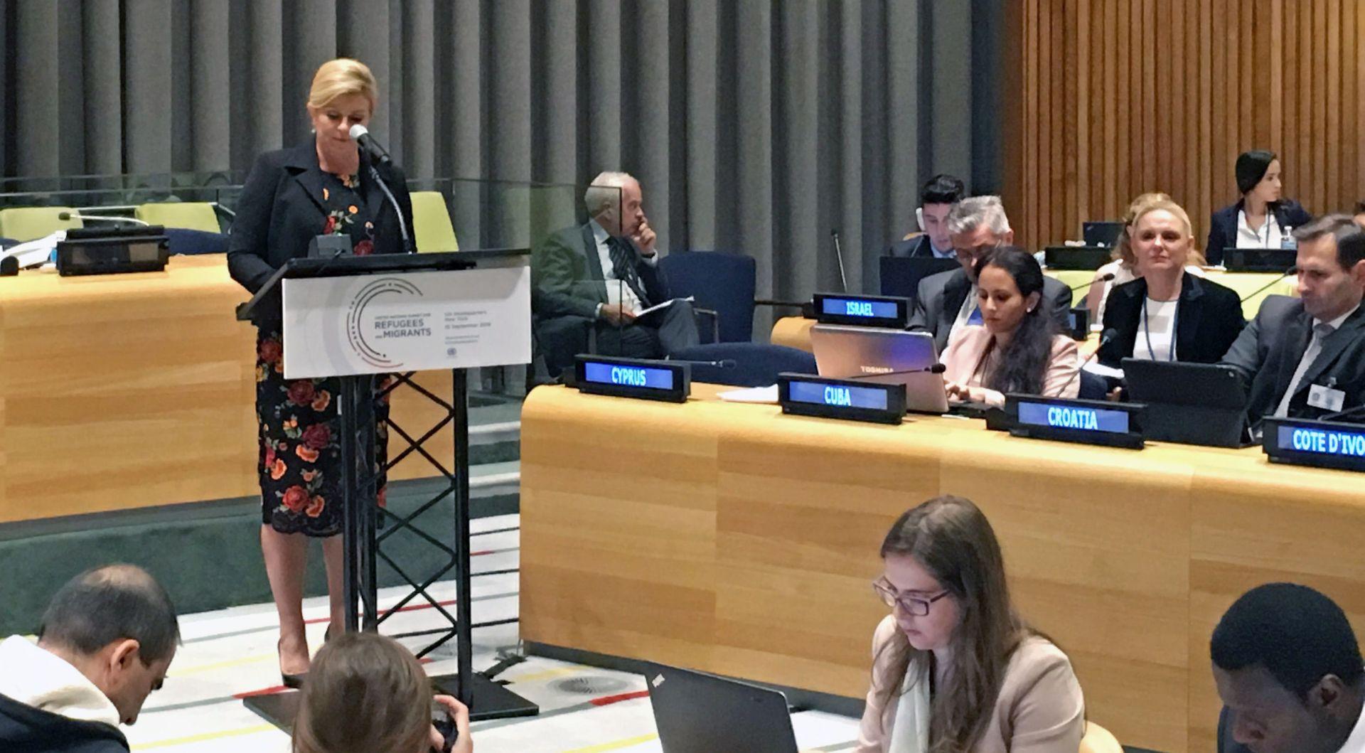 Grabar-Kitarović u UN-u o održivom razvitku