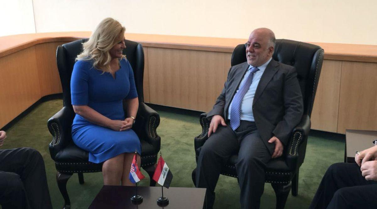 Grabar-Kitarović s australskim premijerom i iračkim premijerom na rubu Opće skupštine UN-a