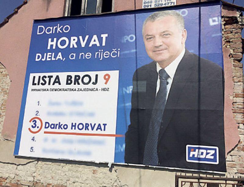 U HDZ-u nezadovoljni kampanjom Darka Horvata