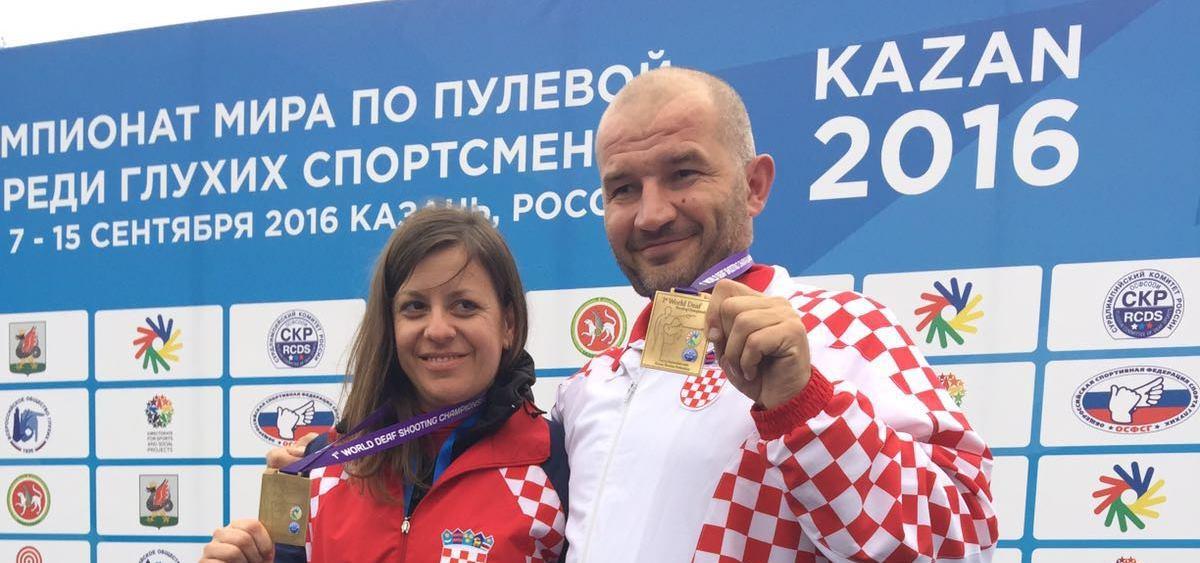 FOTO: Lana Skeledžija i Boris Gramnjak osvojili medalje na 1. Svjetskom prvenstvu gluhih u streljaštvu