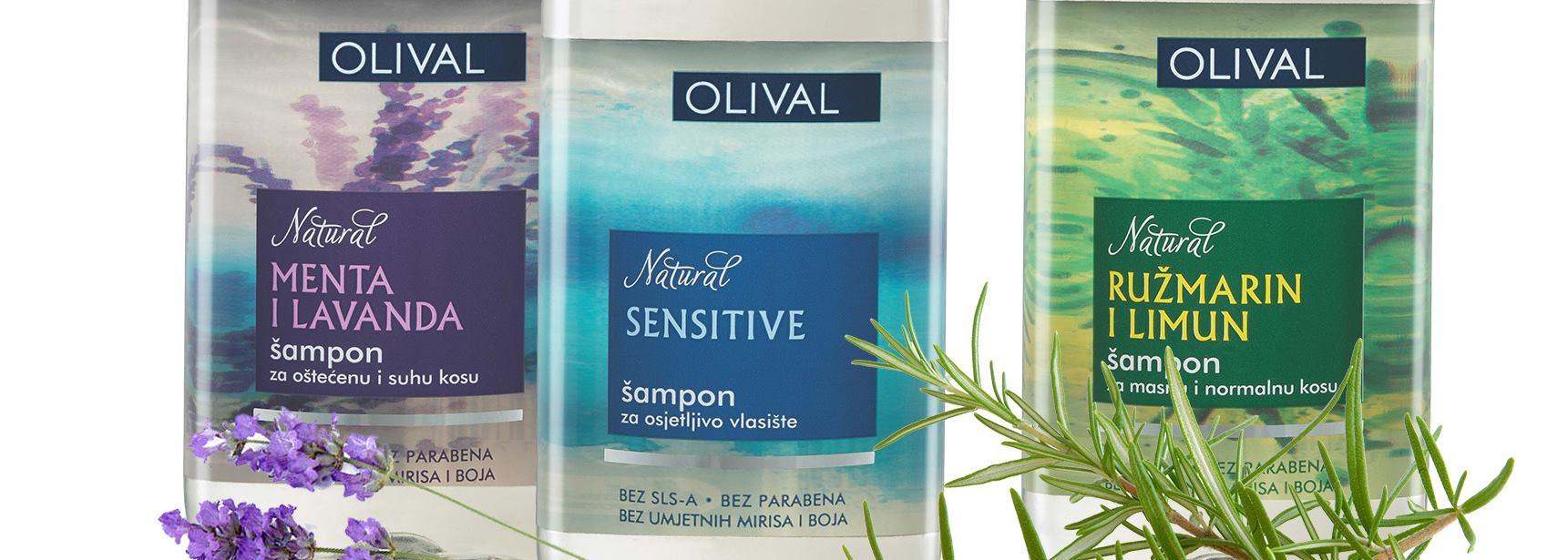 OLIVAL NATURAL Linija šampona potpuno prirodnog podrijetla