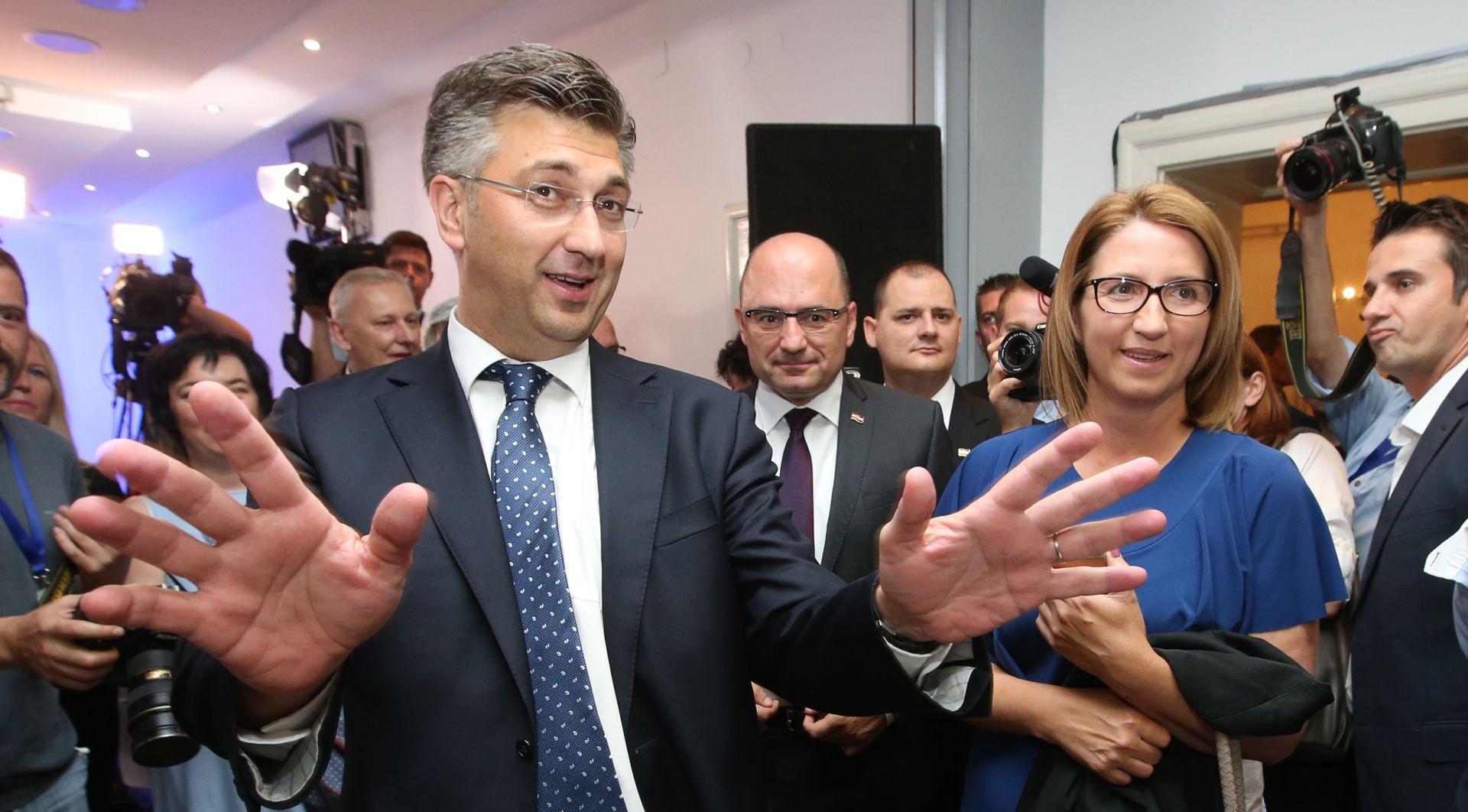 """PLENKOVIĆ STIGAO U STOŽER HDZ-A """"Imali smo sjajnu kampanju, mi smo happy"""""""