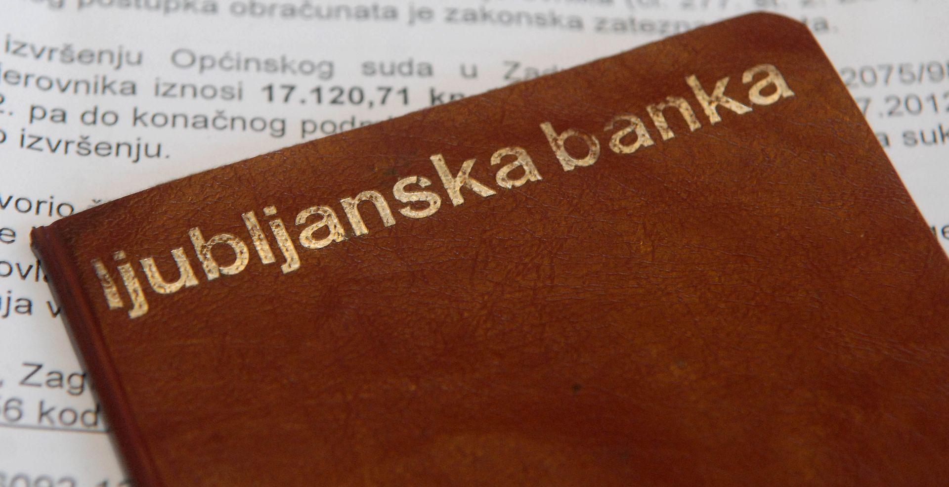 Slovenija tuži Hrvatsku zbog potraživanja Ljubljanske banke od hrvatskih tvrtki
