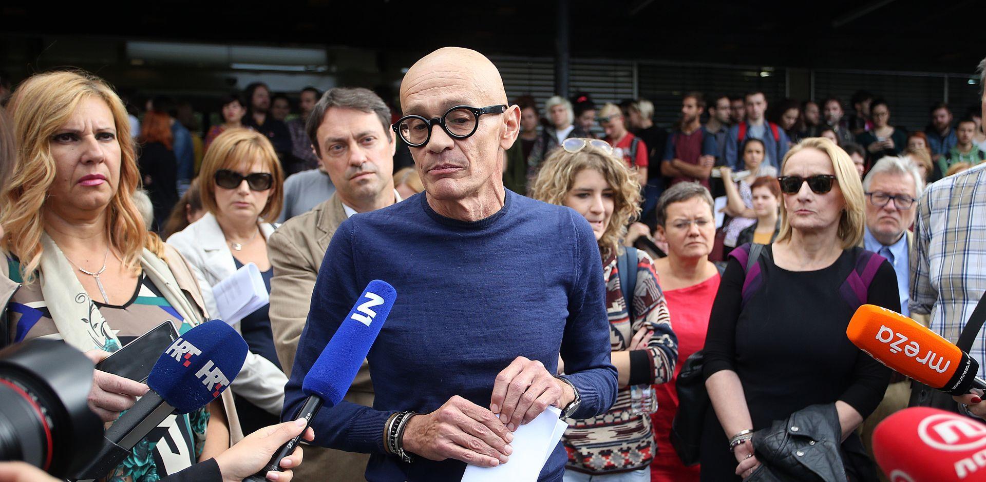 FFZG: Sjednicu Fakultetskog vijeća napustili oponenti dekana Previšića osporivši njezinu legitimnost