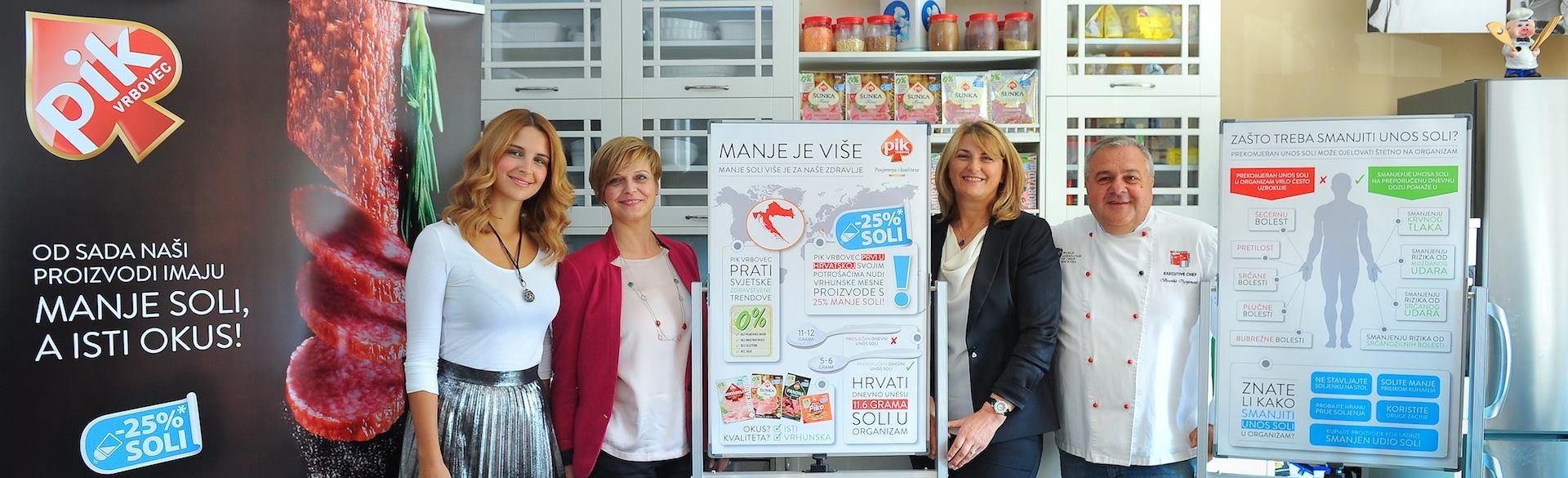 PIK Vrbovec predstavio kampanju 'MANJE JE VIŠE – redukcija soli' za koju je i nagrađen European Business Awardom