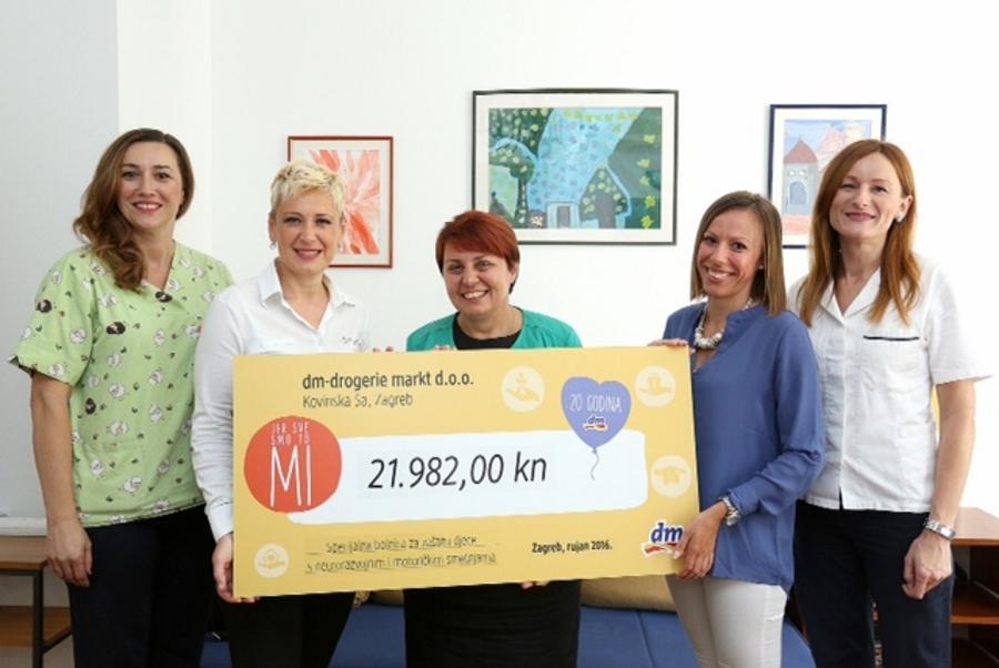 U prikupljanju sredstava sudjelovali su građani svojom kupovinom u novootvorenoj prodavaonici dm-a u Medulićevoj ulici u Gradu Zagrebu
