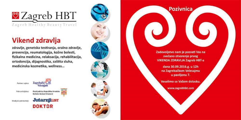 Pozivnica za Vikend zdravlja Zagreb HBT