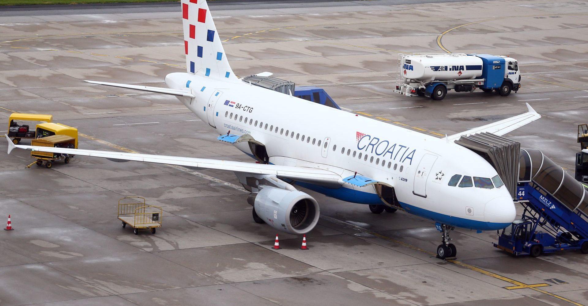 TEHNIČKE POTEŠKOĆE: Zrakoplov Croatia Airlinesa preventivno vraćen u Zagreb