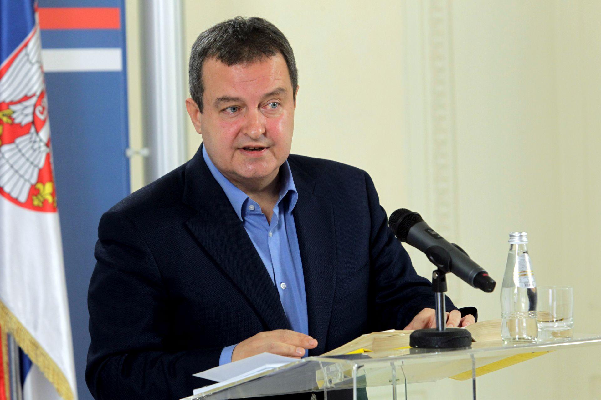 """Dačić: """"Srbija očekuje pozitivne rezultate hrvatskog predsjedanja Vijećem EU"""""""