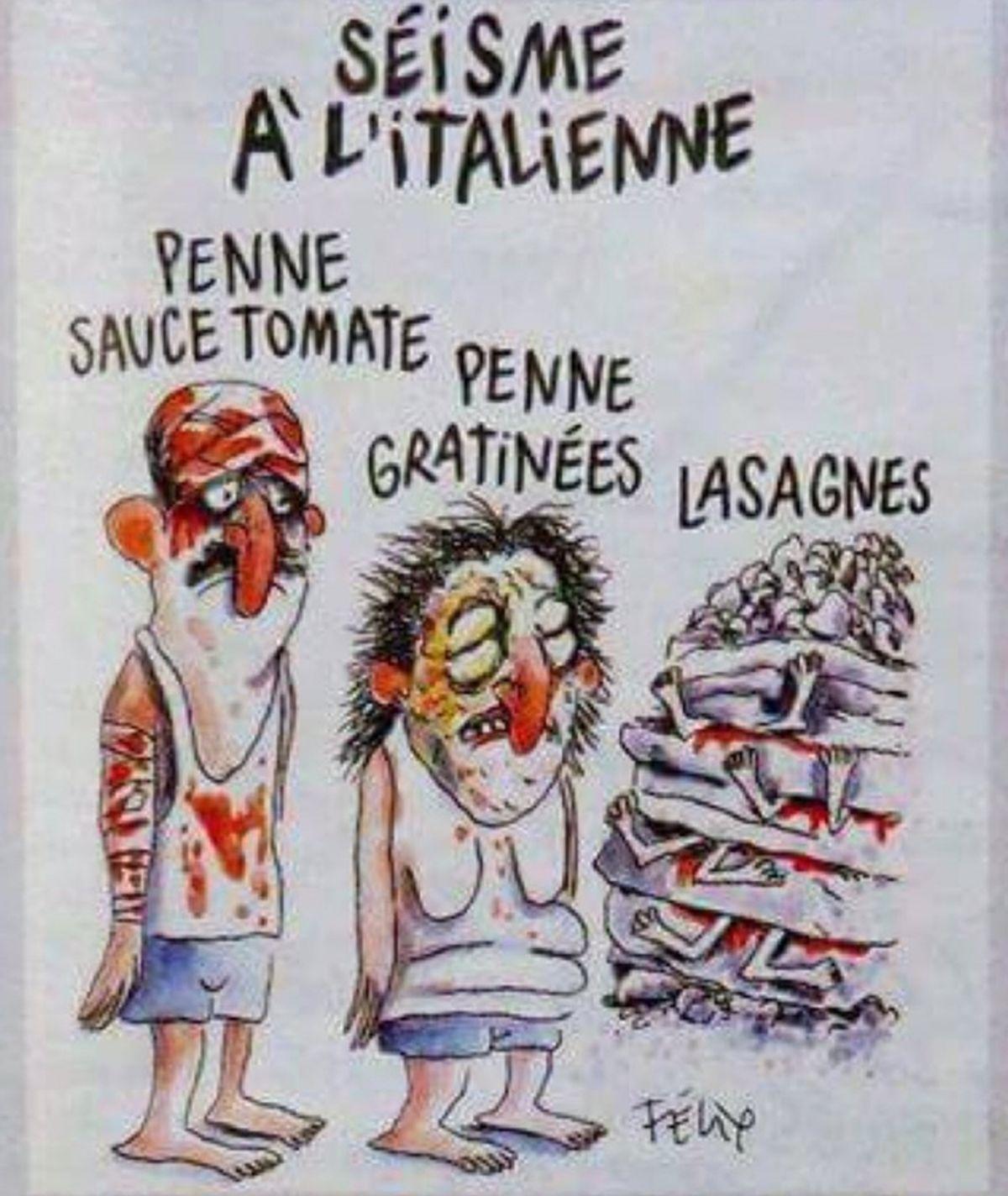 Talijani šokirani karikaturom Charlie Hebdoa o žrtvama potresa