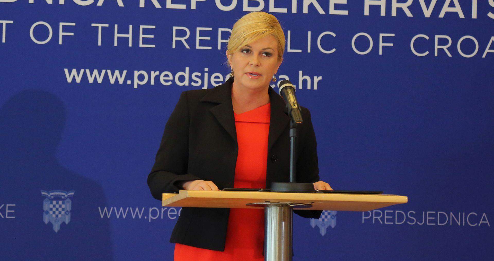OPTUŽBE PROTIV GENERALA Grabar-Kitarović: Događaje u BiH vidim kao pokušaj zastrašivanja Hrvata