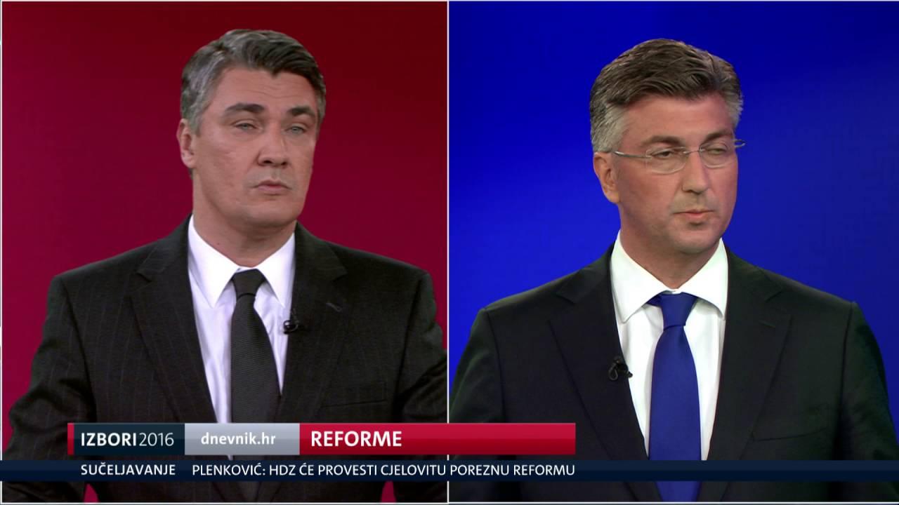 VIDEO:Sučeljavanje Zorana Milanovića i Andreja Plenkovića