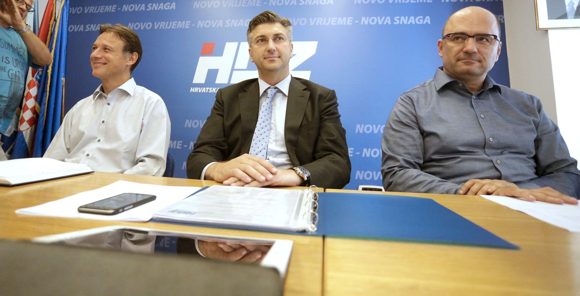 PLENKOVIĆ: HDZ-ova radna skupina u utorak kreće s kontaktima s drugim strankama
