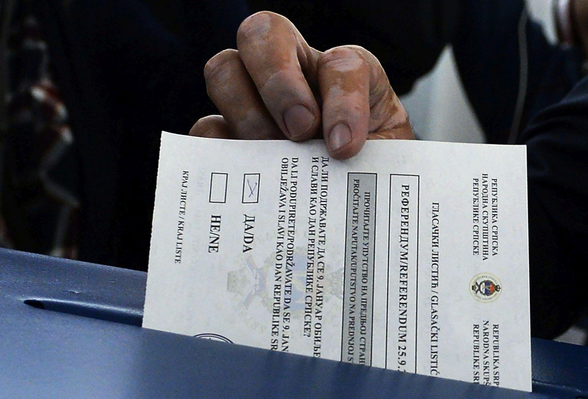 REFERENDUM U RS: Prijepodne glasovalo 17 posto registriranih birača