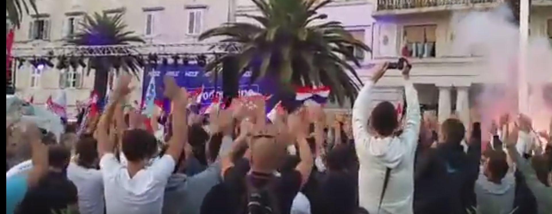 VIDEO: Navijači Hajduka prosvjedovali na skupu HDZ- a