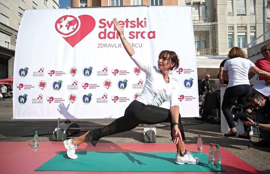 01.10.2016., Zagreb - Javno-zdravstvena akcija u povodu Svjetskog dana srca na kojoj je Aja Petersen predstavljala pilates kao jednu od akticnosti koja pomaze srcu.  Photo: Sanjin Strukic/PIXSELL