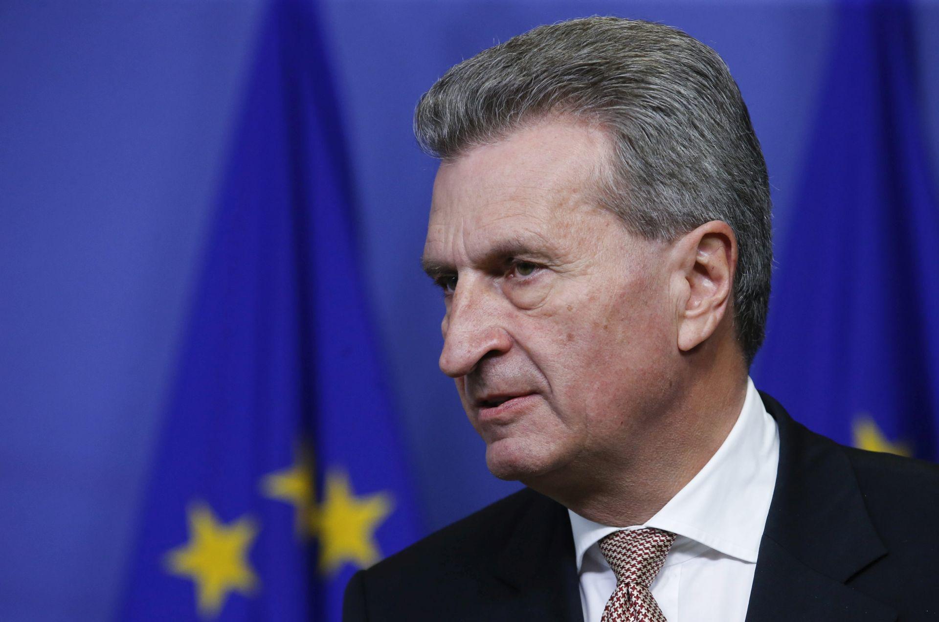 Predsjednica primila povjerenika Europske komisije za proračun i ljudske resurse Günthera Oettingera