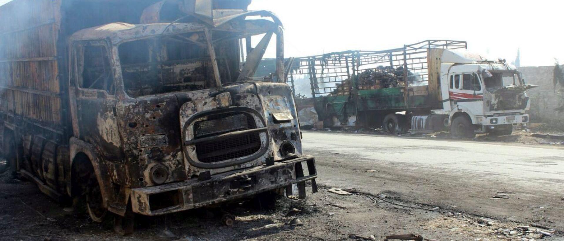 ANALIZA SATELITSKIH SNIMKI Humanitarni konvoj u Siriji napadnut iz zraka