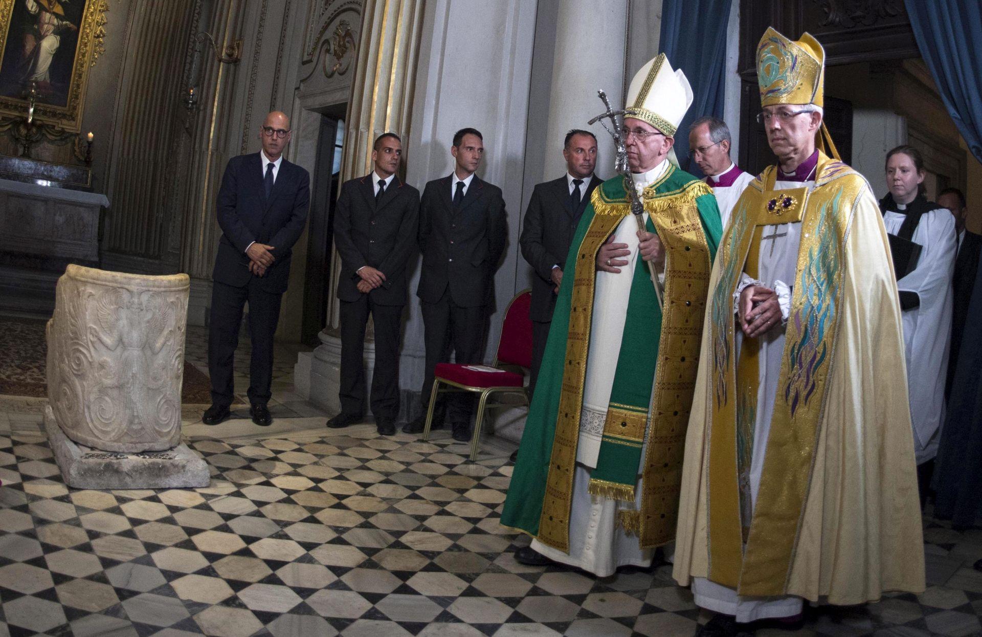 Papa i vođa anglikanske crkve obvezali se na zajedničko djelovanje protiv siromaštva i uništenja planeta
