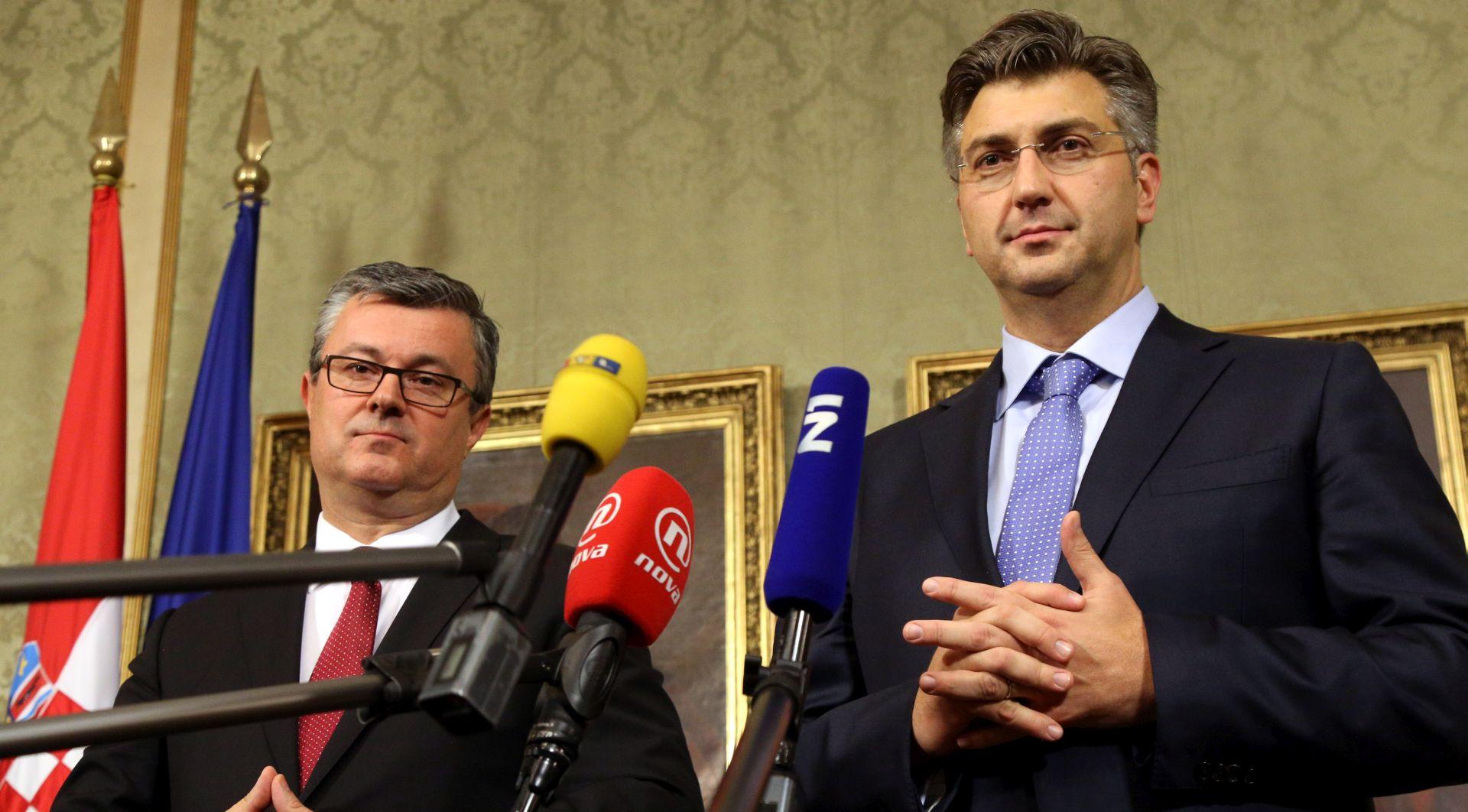 """PLENKOVIĆ U BANSKIM DVORIMA """"Porezna refroma, socijalni dijalog i proračun su prioriteti"""""""