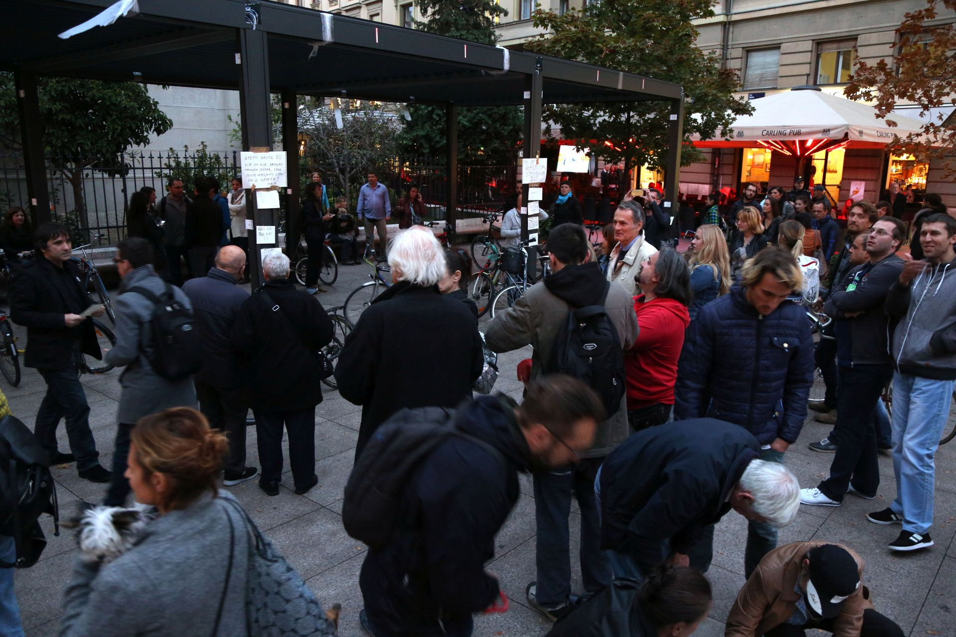 CVJETNI TRG Prosvjed protiv Horvatinčićeve terase