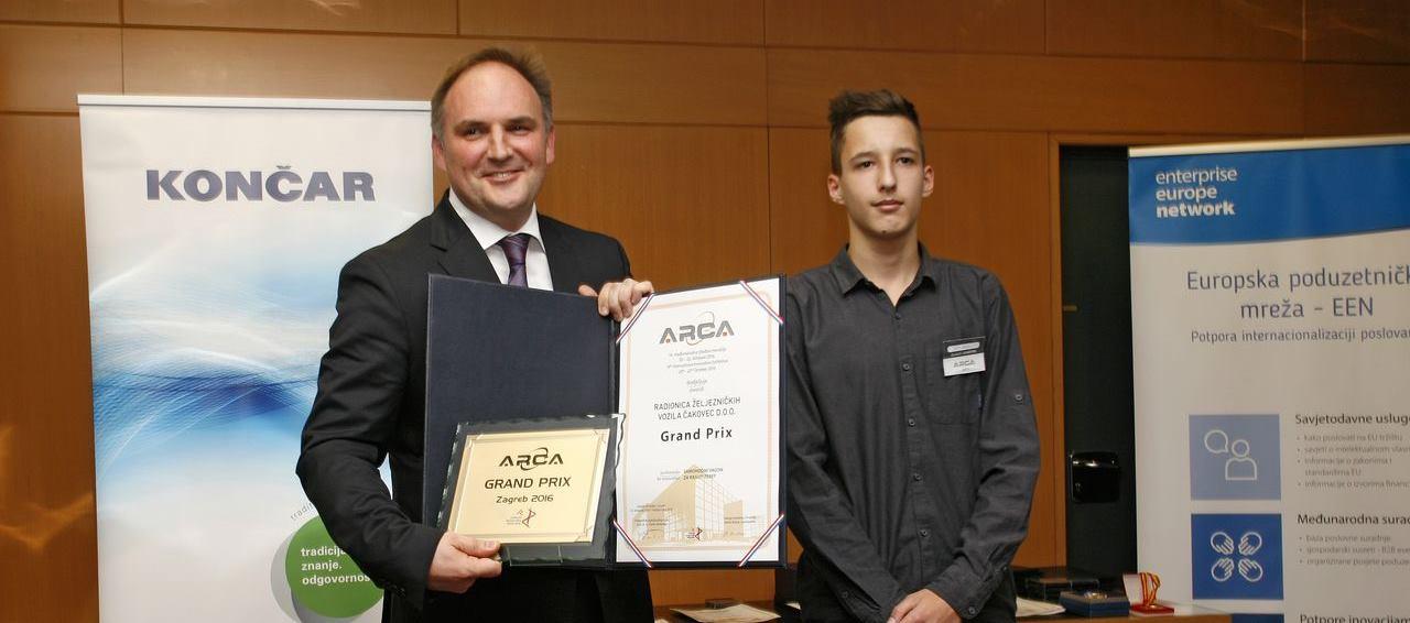 ARCA 2016 Grand Prix pripao jedinstvenoj inovaciji – čakovečkom Samohodnom vagonu za rasuti teret