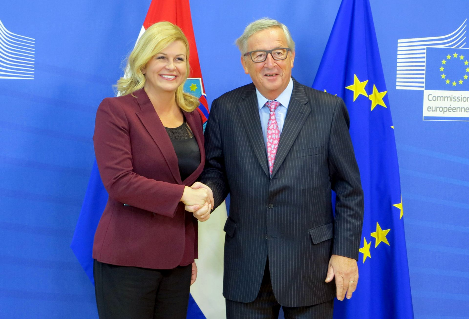 Predsjednica Grabar-Kitarović susretom s Junckerom započela posjet Bruxellesu