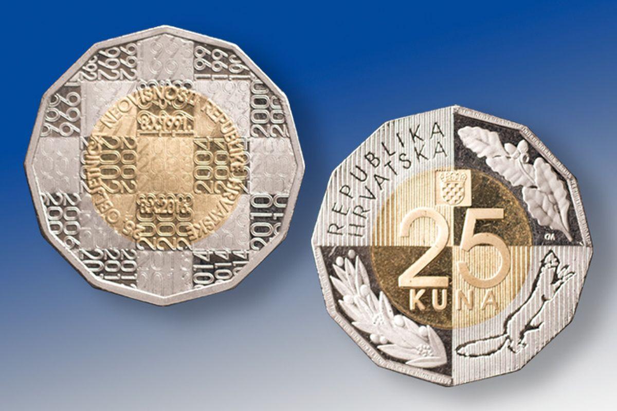 Prigodna kovanica od 25 kuna u povodu 25. obljetnice neovisnosti RH