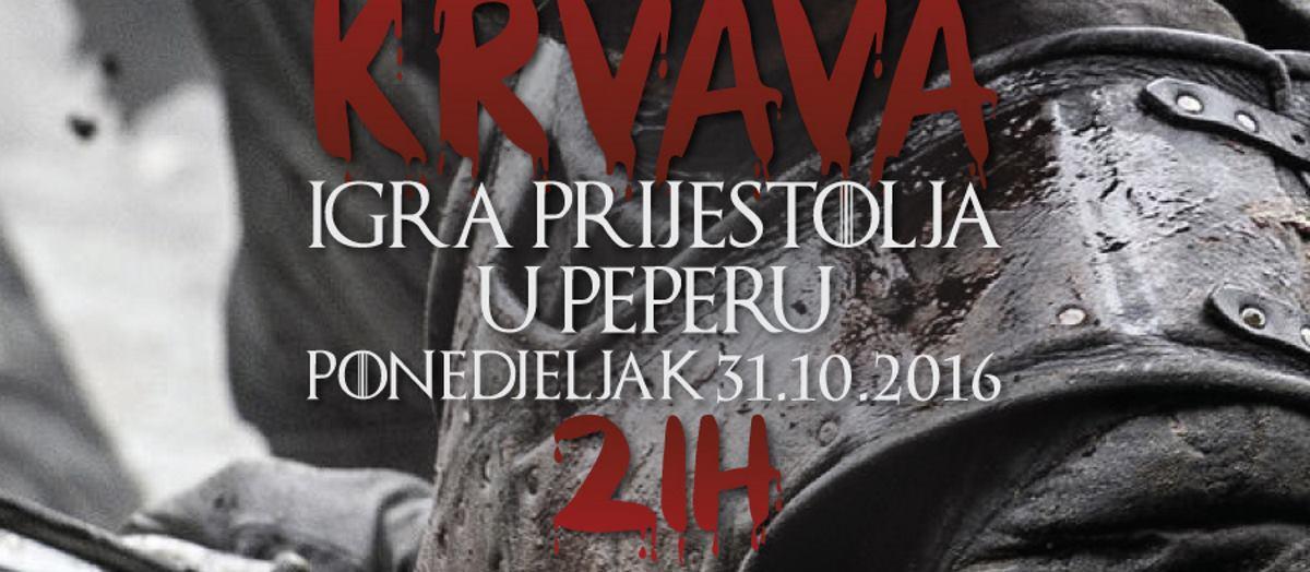 HALOWEEN PARTY Očekuje vas krvava Igra Prijestolja u klubu Peper