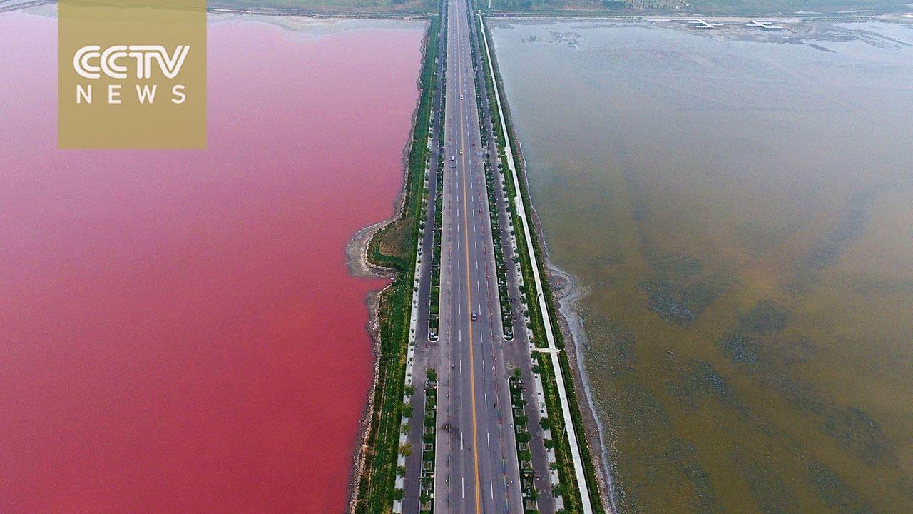 VIDEO: 'Dvobojno' slano jezero Juncheng