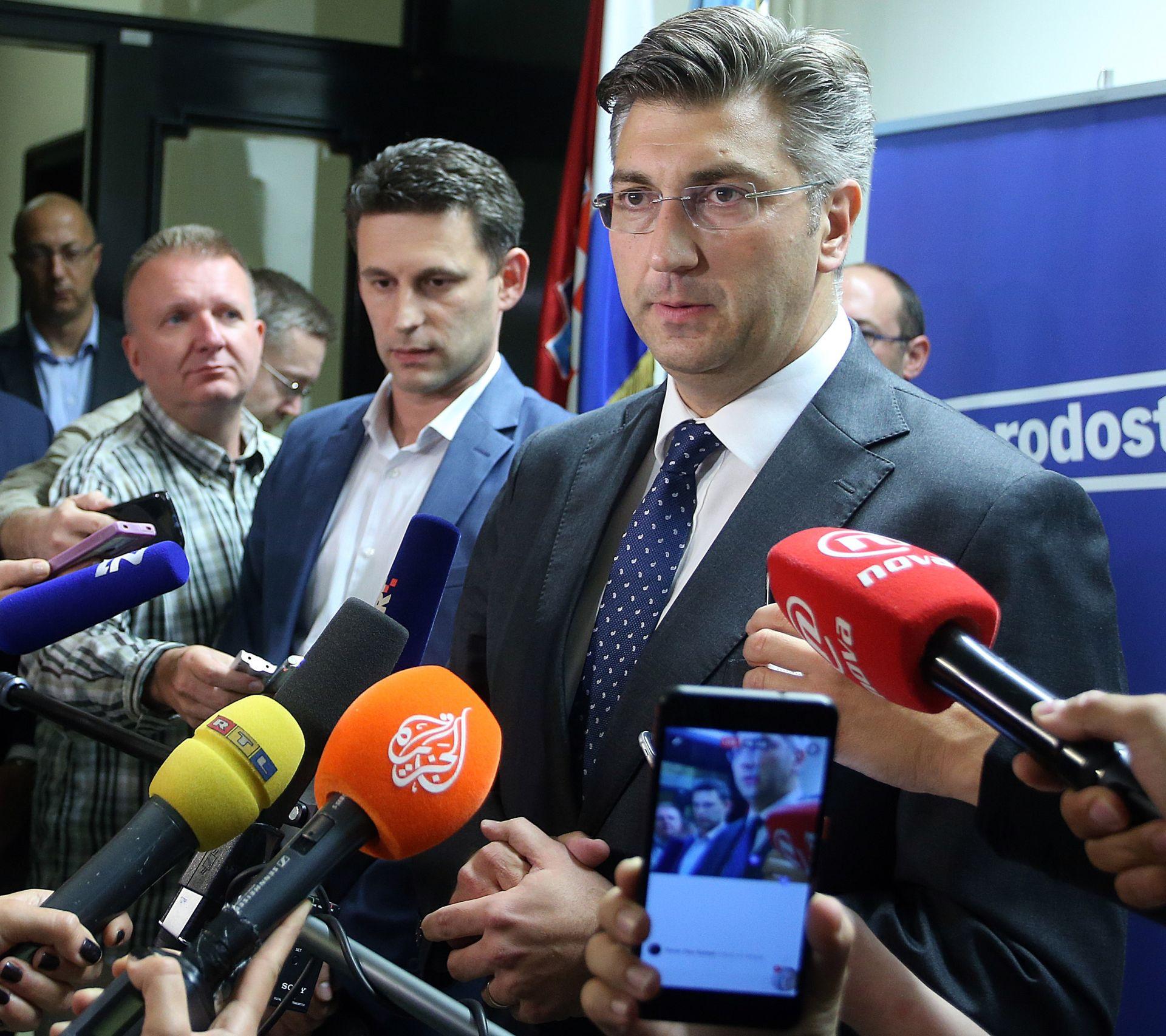 Plenković: Danas, a najkasnije sutra bismo s Mostom mogli postići dogovor o suradnji