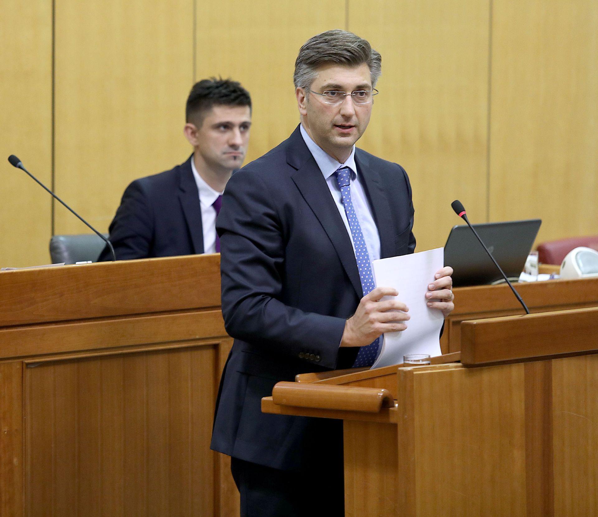 SABOR Plenković prenio zaključke Europskog vijeća