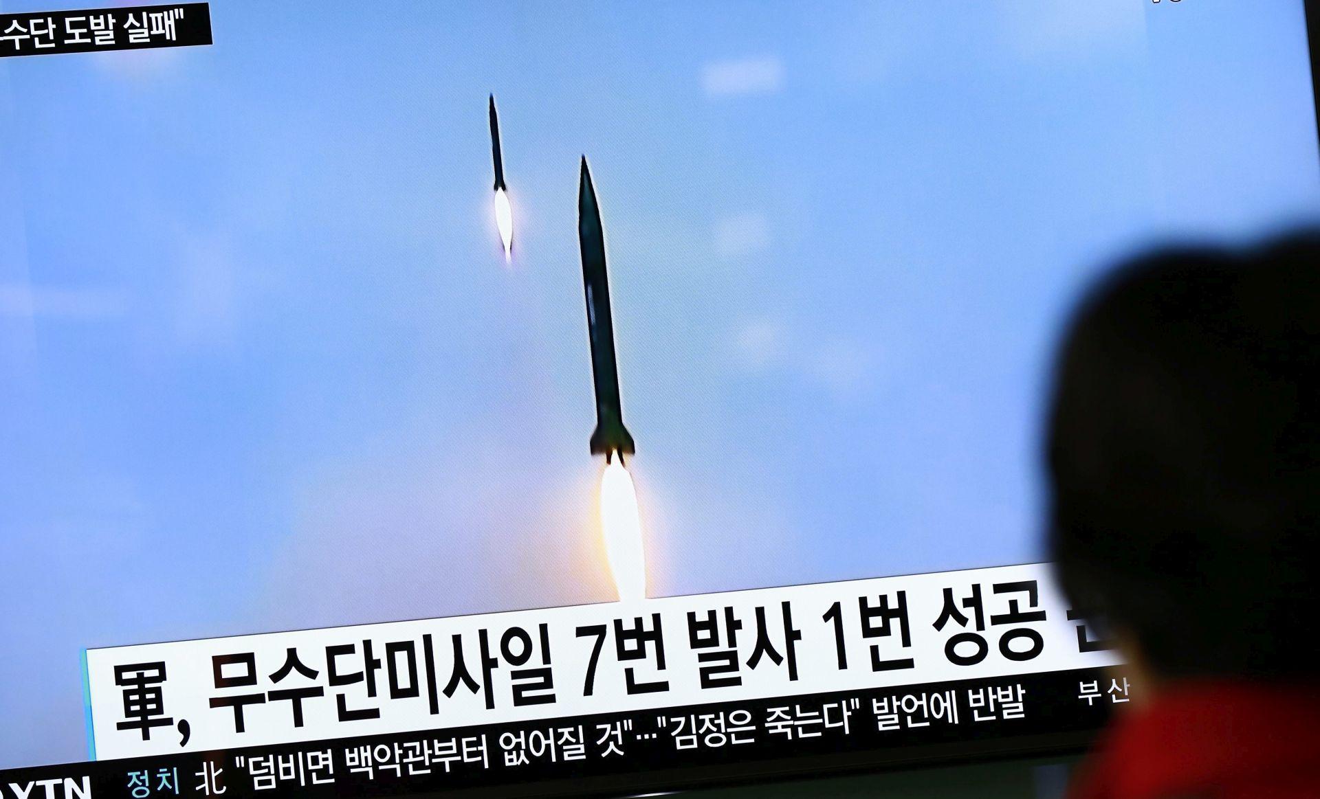 SJEVERNA KOREJA Novo neuspjelo lansiranje rakete