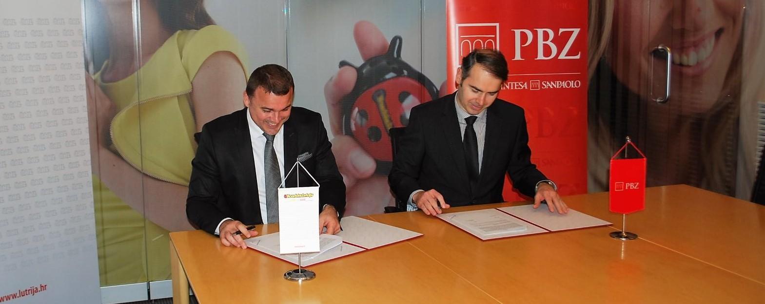 Hrvatska Lutrija i Privredna banka Zagreb potpisale Ugovor o obavljanju poslova platnog prometa