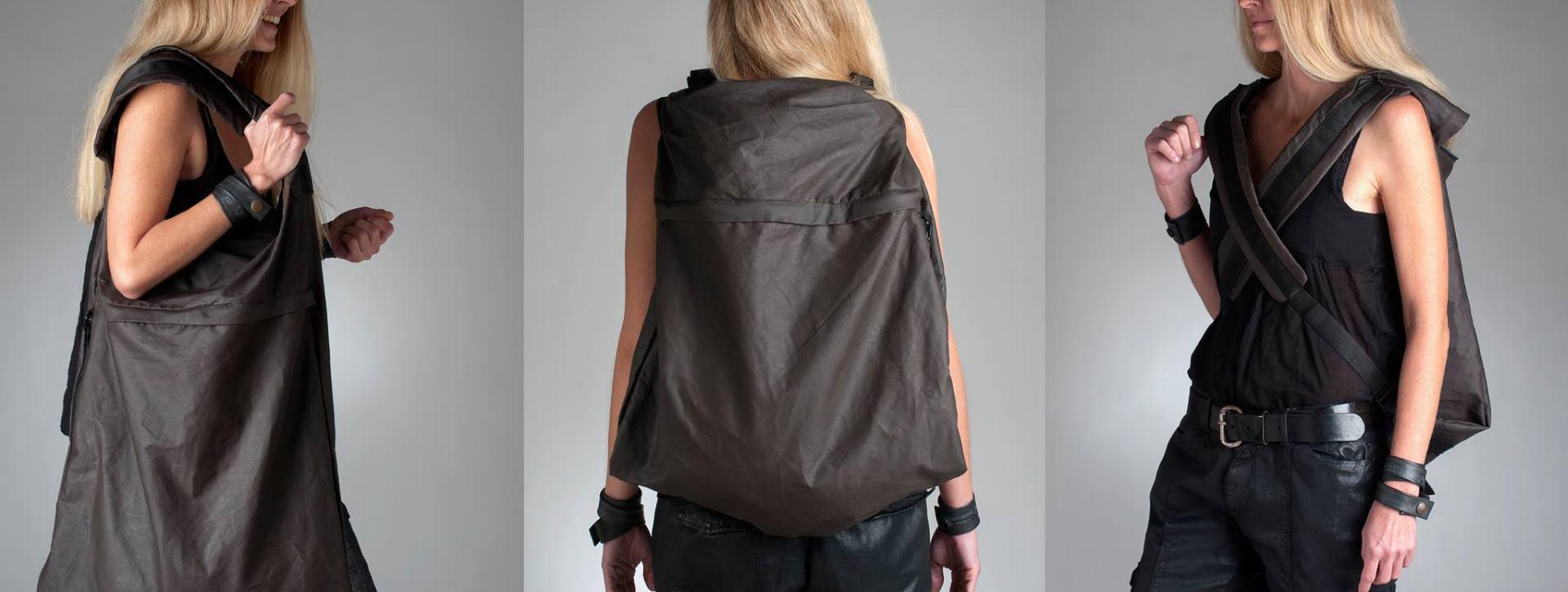 Vrećasta ruksak-torba idealna za kišno vrijeme