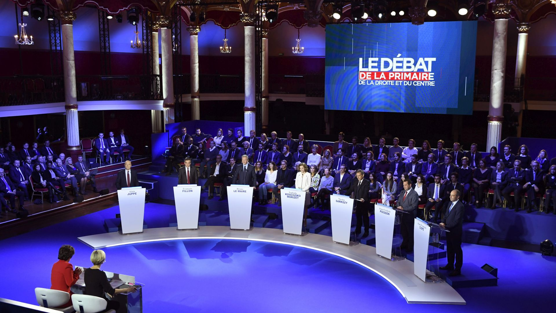 Predizbori na francuskoj desnici: U prvom krugu trojica favorita