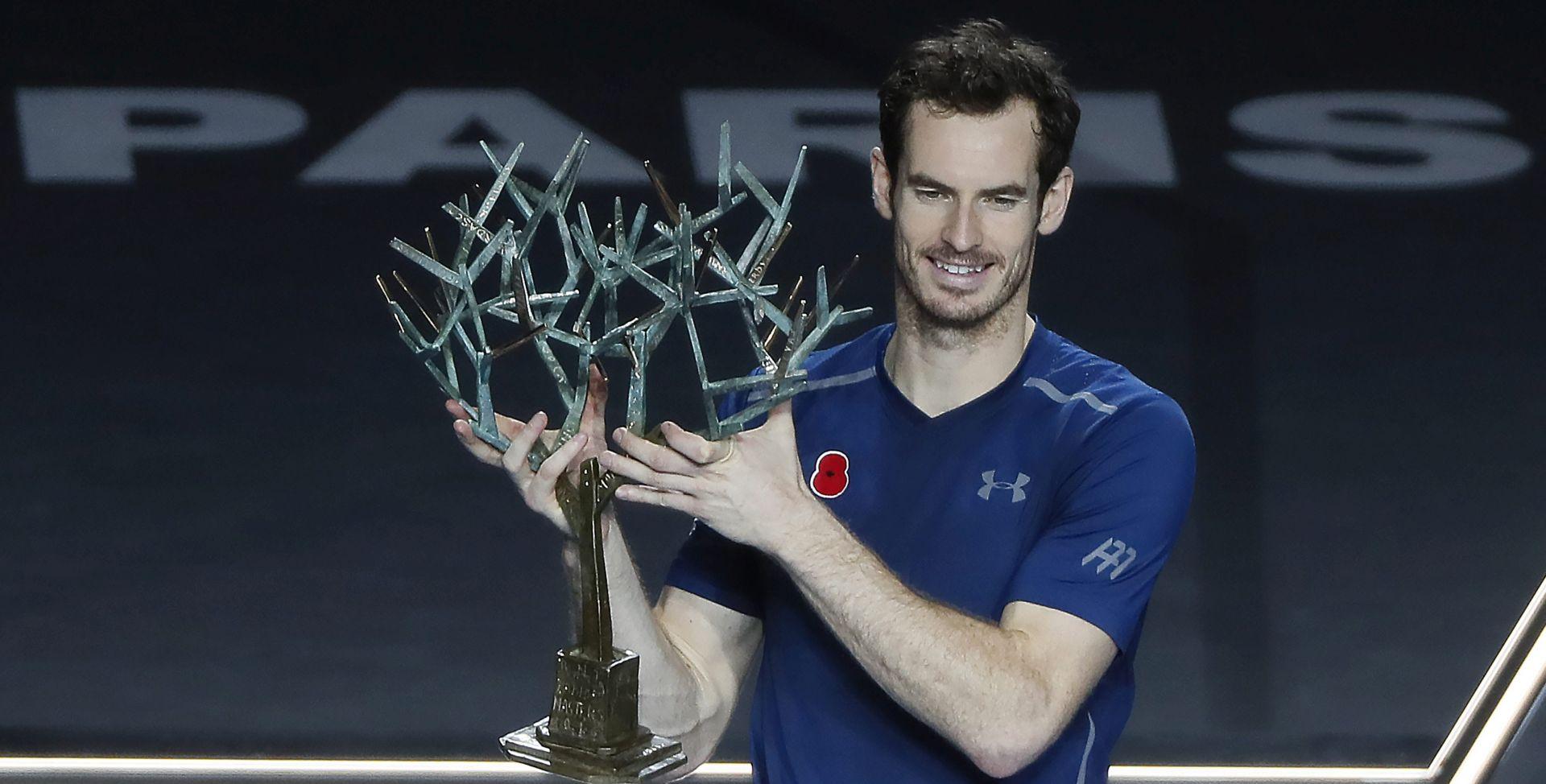 Andy Murray prvo mjesto na ATP ljestvici 'začinio' i naslovom u Parizu