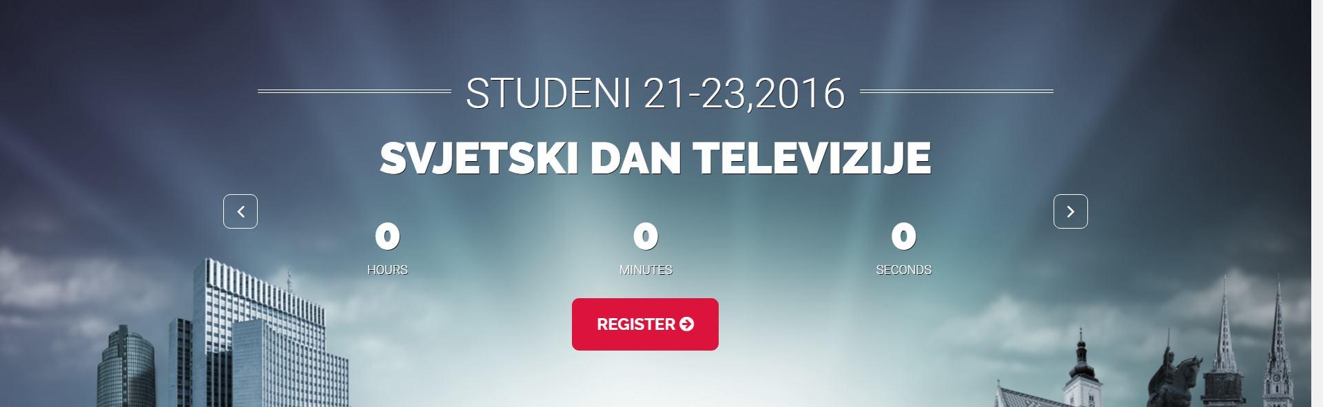 Program sajma i kongresa 'Digitalno doba 2' povodom obilježavanja Svjetskog dana televizije