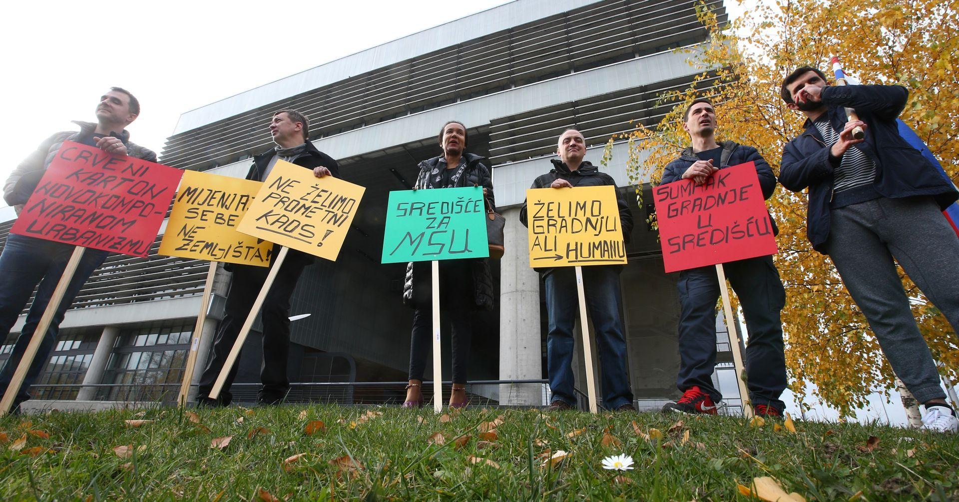 Nakon teksta u Nacionalu organiziran prosvjed protiv gradnje zgrade u Središću