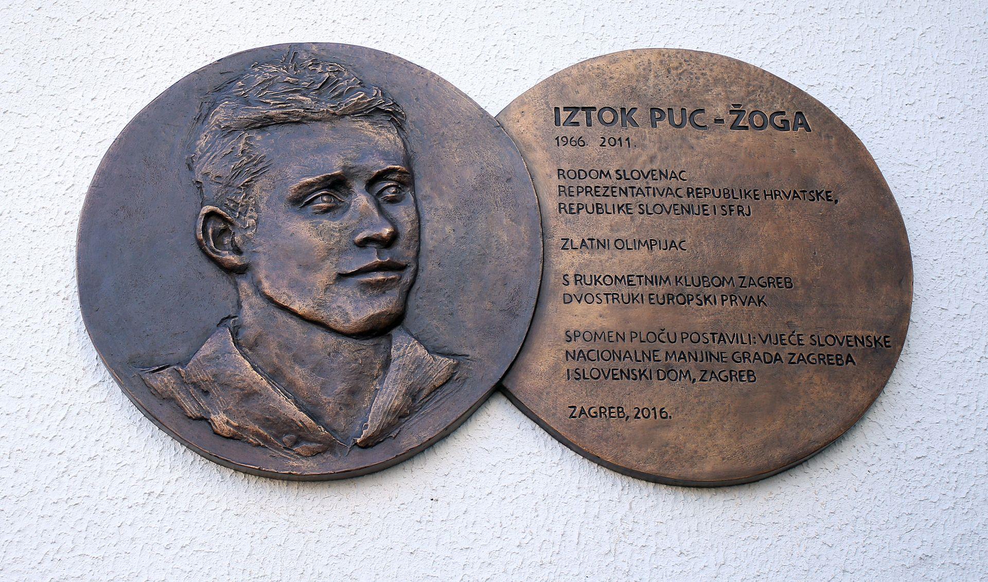 Otkrivena spomen ploča legendi hrvatskog i slovenskog rukometa Iztoku Pucu