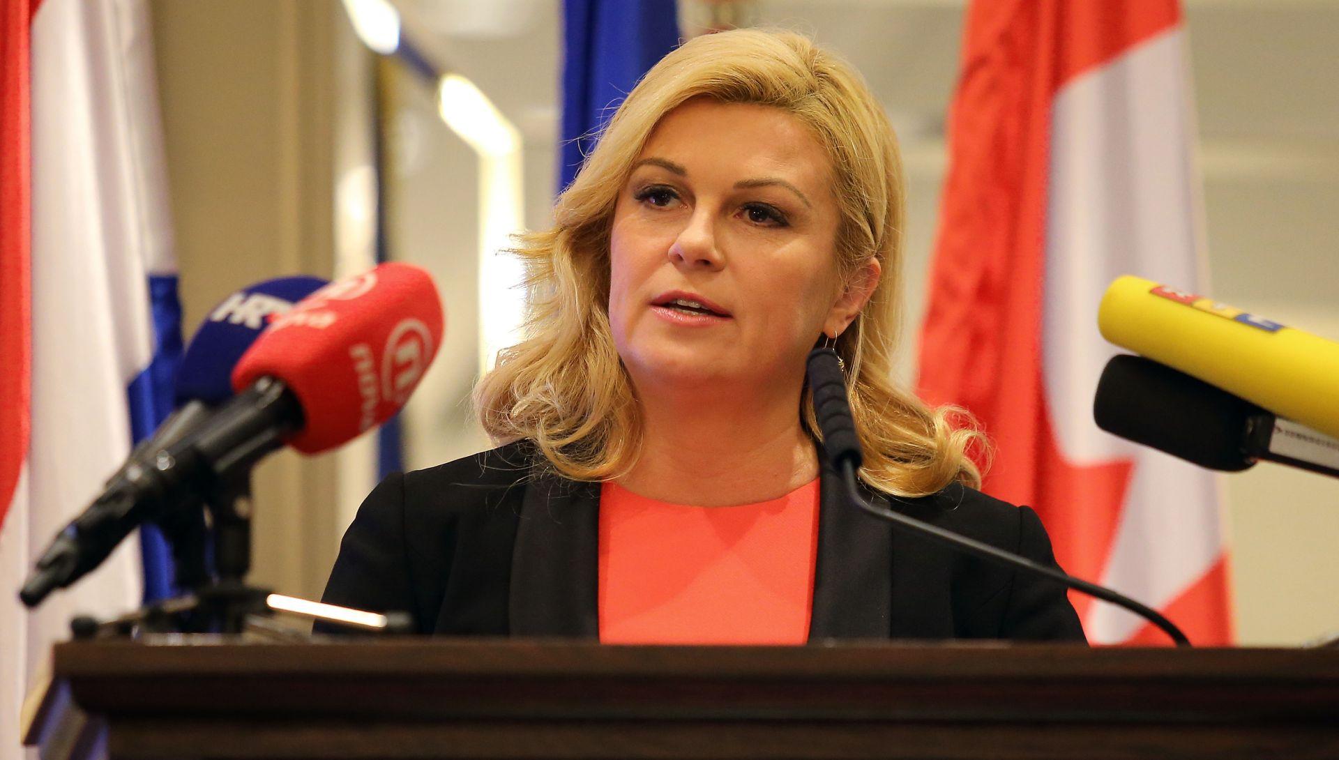 Grabar-Kitarović: Pozitivna društvena klima važna je za ostanak mladih u Hrvatskoj